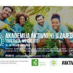 Otvorene prijave na program razvoja lokalnih zajednica - Akademija aktivni(h) u zajednici