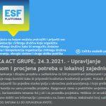 Online radionica: Upravljanje projektnim ciklusom i procjena potreba u lokalnoj zajednici