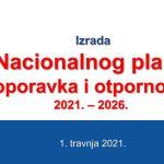 Predstavljen Nacionalni plan oporavka i otpornosti