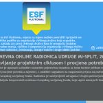 Otvorene prijave na online radionicu: Upravljanje projektnim ciklusom i procjena potreba