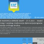 """Online radionica: """"Modeli unutarnjeg i vanjskog vrednovanja djelovanja/programa organizacija civilnoga društva"""""""