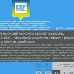 Online radionica: Upravljanje projektnim ciklusom i procjena potreba u lokalnim zajednicama