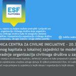 Online radionica: Razvoj društvenog kapitala u lokalnoj zajednici te modeli partnerstva u zajednici