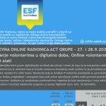 """""""Online volonterstvo i digitalni alati"""" - dvodnevna online radionica ACT grupe"""