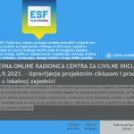 """""""Upravljanje projektnim ciklusom i procjena potreba u lokalnoj zajednici"""" - online radionica udruge CCI"""