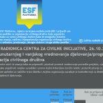 Online radionica udruge CCI: Modeli unutarnjeg i vanjskog vrednovanja organizacija civilnoga društva