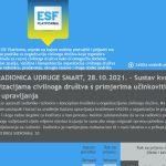 Online radionica udruge SMART: Sustav kvalitete u organizacijama civilnoga društva
